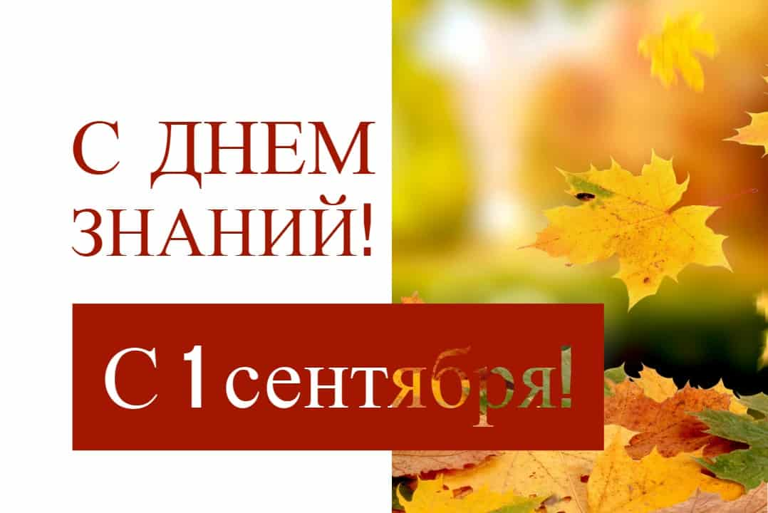С новым учебным годом! С 1 сентября!